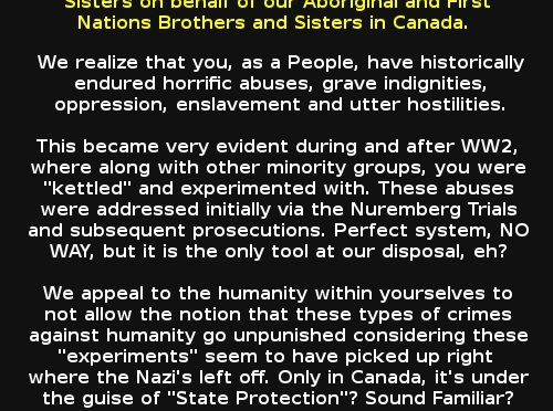ATTN: @pmharper + #CPC re: #FirstNations + #Aboriginals + #ReconciliationActionPlan = #cdnpoli #NurembergSolution