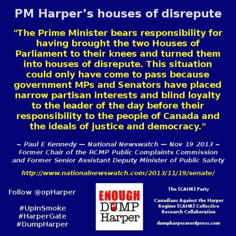 PM Harper's houses of disrepute By Paul E Kennedy — National Newswatch — Nov 19 2013