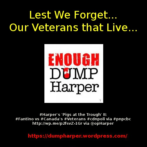 #Harper's 'Pigs at the Trough' II: #Fantino vs #Canada's #Veterans #cdnpoli via #pnpcbc