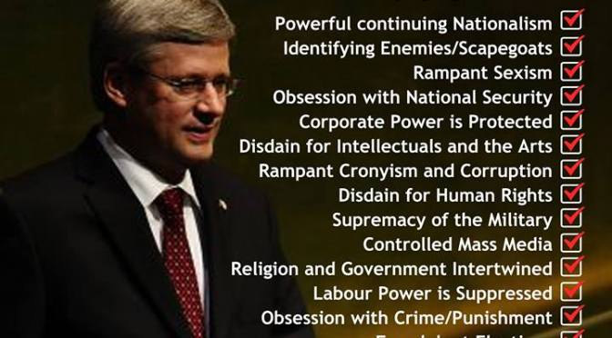 Is #Harper's #CPC a modern day #cdnpoli #Fascist Party or is #NeoQaeda a better term?