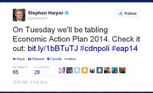 Harper's PMO EAP Tweet Redirection Propaganda Website Conflict of Interest 09Feb2014
