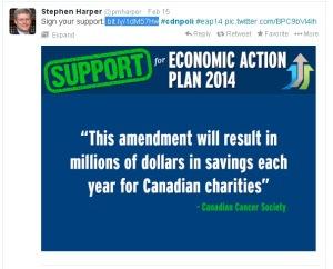 Harper's PMO EAP Tweet Redirection Propaganda Website Conflict of Interest 15Feb2014