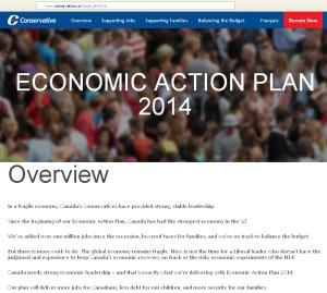 Harper's PMO EAP Propaganda Website landing page Conflict of Interest 15Feb2014