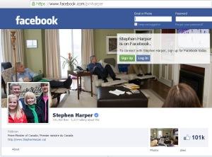 Harper's PMO Facebook Website Redirect url Conflict of Interest 21Feb2014