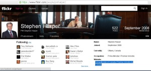 Harper's PMO Flickr Website Redirect url Conflict of Interest 21Feb2014
