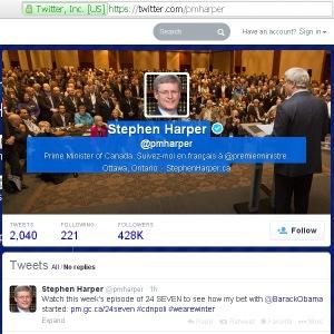 Harper's PMO Twitter Website Redirect url Conflict of Interest 21Feb2014 (en)