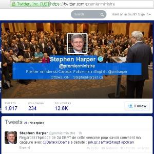 Harper's PMO Twitter Website Redirect url Conflict of Interest 21Feb2014 (fr)