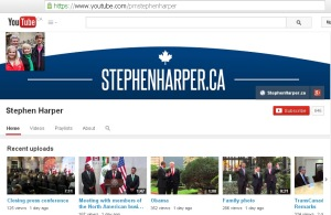 Harper's PMO YouTube Website Redirect url Conflict of Interest 21Feb2014