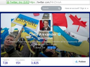 Archived content from Chris Alexander  @MinChrisA 08Mar2014