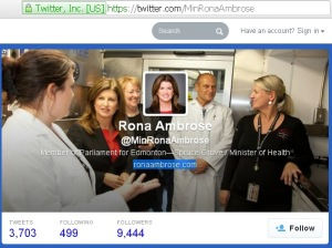 Archived content from Rona Ambrose @MinRonaAmbrose 21Feb2014