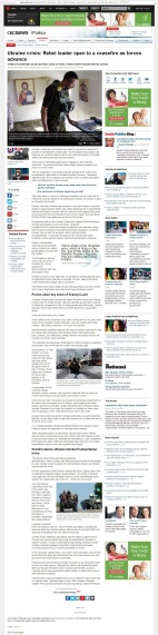 Ukraine crisis: Rebel leader open to a ceasefire as forces advance [archived v2] Artillery reverberates across Donetsk, home to nearly 1 million before 300,000 fled the conflict The Associated Press Posted: Aug 09, 2014 12:52 PM ET Last Updated: Aug 09, 2014 5:35 PM ET